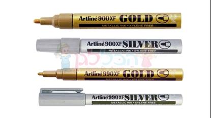 טוש ארטליין זהב/כסף דק (990)