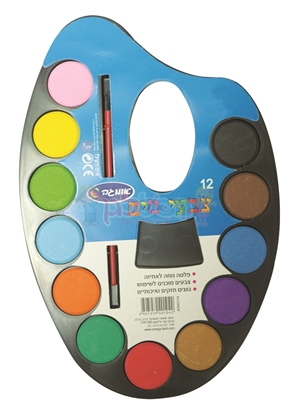 פלטה 12 צבעי מים אומגה