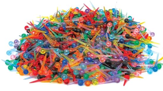 תמונה של סיכות פלסטיק ראש עגול