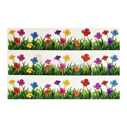 תמונה של מדבקות סטריפ פרחים גדול 10 דפים