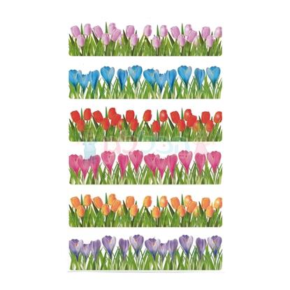 תמונה של מדבקות סטריפ פרחים קטן 10 דפים