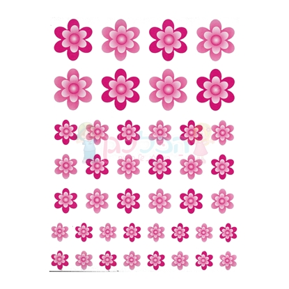 תמונה של מדבקות פרחים ורוד 10 דפים