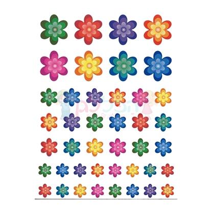 תמונה של מדבקות פרחים צבעוני 10 דפים