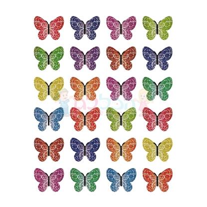 תמונה של מדבקות פרפרים טקסטורה 10 דפים