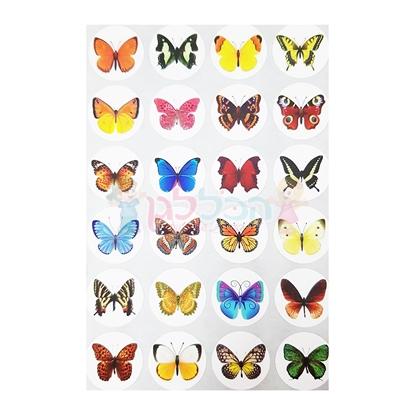 תמונה של מדבקות פרפרים קטנים עם גליטר 10 דפים