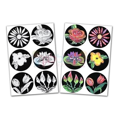תמונה של מדבקות צבע ושפשף- פרחים