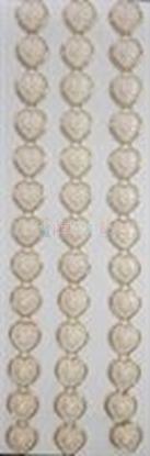 תמונה של מדבקות אבני קריסטל ארוך - לבבות זהב גדול