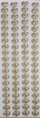 תמונה של מדבקות אבני קריסטל ארוך - לבבות זהב-3