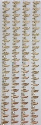 """תמונה של מדבקות אבני קריסטל ארוך - עיטורים עלים זהב מק""""ט GM1126"""