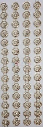 """תמונה של מדבקות אבני קריסטל ארוך - עיגולים זהב מק""""ט GM1124"""