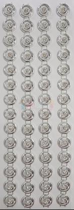 """תמונה של מדבקות אבני קריסטל ארוך - עיגולים כסף מק""""ט GM1123"""