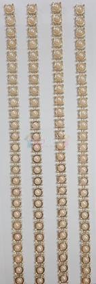 """תמונה של מדבקות אבני קריסטל ארוך - פנינה זהב קטן מק""""ט GM1118"""