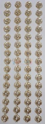 """תמונה של מדבקות אבני קריסטל ארוך - פרחים זהב מק""""ט GM1114"""