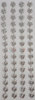 """תמונה של מדבקות אבני קריסטל ארוך - פרחים כסף מק""""ט GM1113"""
