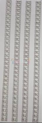 """תמונה של מדבקות אבני קריסטל ארוך - פפיון כסף מק""""ט GM1109"""