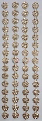 """תמונה של מדבקות אבני קריסטל ארוך - פרחים זהב מק""""ט GM1106"""
