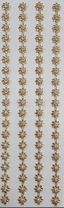 """תמונה של מדבקות אבני קריסטל ארוך - פרחים זהב קטן מק""""ט GM1104"""