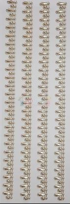 """תמונה של מדבקות אבני קריסטל ארוך - עיטורים פסים זהב מק""""ט GM1102"""