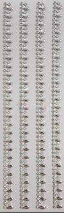 """תמונה של מדבקות אבני קריסטל ארוך - עיטורים כסף מק""""ט GM1119"""