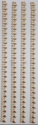 """תמונה של מדבקות אבני קריסטל ארוך - עיטורים זהב מק""""ט GM1120"""
