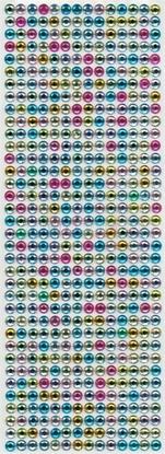 """תמונה של מדבקות אבני קריסטל ארוך - עיגול צבעוני מק""""ט: GM110"""