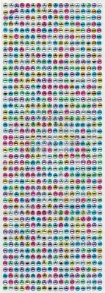"""תמונה של מדבקות אבני קריסטל ארוך - עיגול צבעוני בינוני  מק""""ט: GM111"""