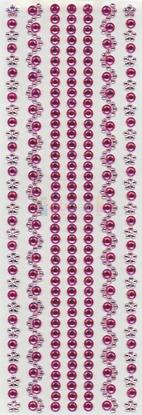 """תמונה של מדבקות אבני קריסטל ארוך - ורוד מק""""ט: GM115"""