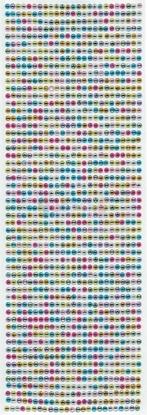 """תמונה של מדבקות אבני קריסטל ארוך - עיגול צבעוני קטן  מק""""ט: GM129"""