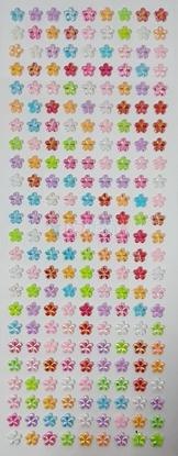 """תמונה של מדבקות אבני קריסטל ארוך - שורות פרחים פנינה  מק""""ט: GM141"""