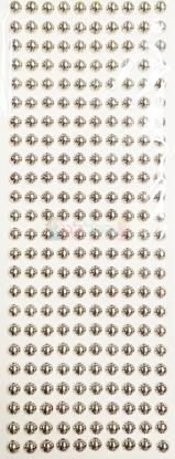 """תמונה של מדבקות אבני קריסטל ארוך - עיגולים גדול כסף מק""""ט: GM167"""