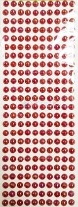 """תמונה של מדבקות אבני קריסטל ארוך - עיגולים גדול ורוד מק""""ט: GM169"""