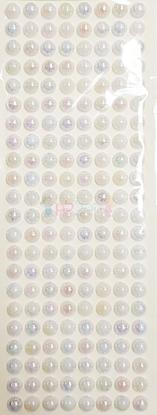 """תמונה של מדבקות אבני קריסטל ארוך - עיגולים גדול לבן מק""""ט: GM172"""
