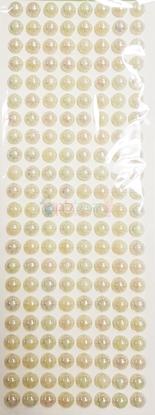 """תמונה של מדבקות אבני קריסטל ארוך - עיגולים גדול פנינה מק""""ט: GM175"""