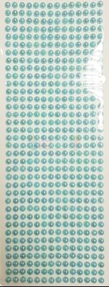 """תמונה של מדבקות אבני קריסטל ארוך - עיגולים קטן תכלת מק""""ט: GM176"""