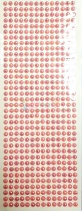 """תמונה של מדבקות אבני קריסטל ארוך - עיגולים קטן ורוד מק""""ט: GM178"""