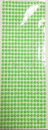 """תמונה של מדבקות אבני קריסטל ארוך - עיגולים קטן ירוק מק""""ט: GM180"""