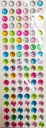 """תמונה של מדבקות אבני קריסטל ארוך - עיגולים גדול צבעוני מק""""ט: GM186"""