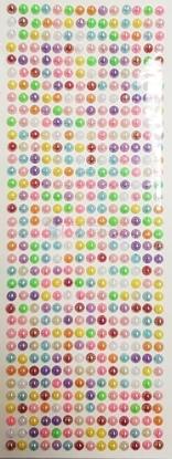 """תמונה של מדבקות אבני קריסטל ארוך - עיגולי פנינה קטן צבעוני מק""""ט: GM187"""