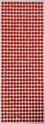 """תמונה של מדבקות אבני קריסטל ארוך - אדום מק""""ט: GM190"""