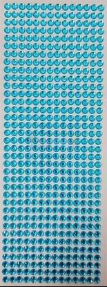 """תמונה של מדבקות אבני קריסטל ארוך - תכלת מק""""ט: GM191"""