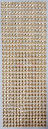 """תמונה של מדבקות אבני קריסטל ארוך - זהב מק""""ט: GM193"""