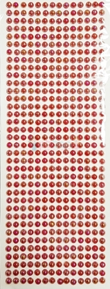 """תמונה של מדבקות אבני קריסטל ארוך - עיגולים קטן ורוד מק""""ט: GM168"""