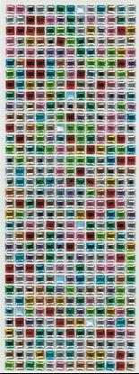 """תמונה של מדבקות אבני קריסטל ארוך - ריבועים קטן צבעוני מק""""ט: GM127"""
