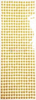 """תמונה של מדבקות אבני קריסטל ארוך - עיגולים קטן זהב מק""""ט: GM164"""