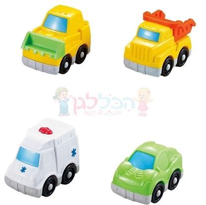 תמונה של 4 מכוניות משחק