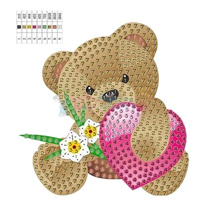 תמונה של יצירה הדבקת יהלומים דובי