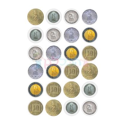 תמונה של מדבקות מטבעות 10 דף