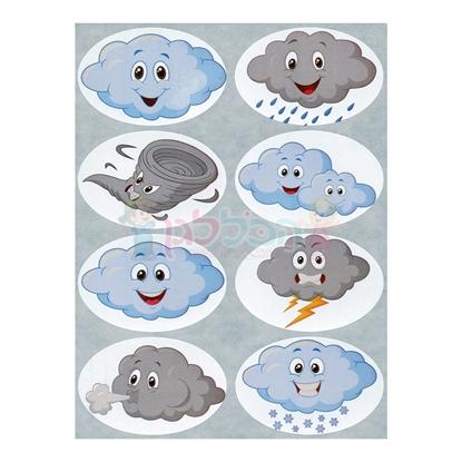 תמונה של מדבקות פרוצס עננים חורף 10 דף