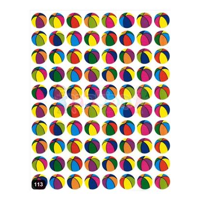 תמונה של מדבקות מודפסות כדורים - קטן 25 דף