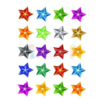 תמונה של מדבקות פרוצס כוכבים בינוני תלת מימד 10 דף